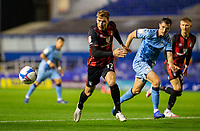 2nd October 2020; St Andrews Stadium, Coventry, West Midlands, England; English Football League Championship Football, Coventry City v AFC Bournemouth; Jack Stacey of AFC Bournemouth chasing down a loose ball