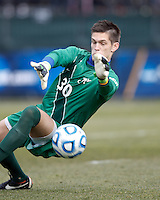 Creighton University goalkeeper Jeff Gal (30) first half save..NCAA Tournament. Creighton University (blue) defeated University of Connecticut (white), 1-0, at Morrone Stadium at University of Connecticut on December 2, 2012.