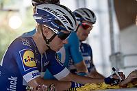 Remco Evenepoel (BEL/Deceuninck - Quick Step) at sign-on<br /> <br /> Belgian National Road Championships 2019 - Gent<br /> <br /> ©kramon