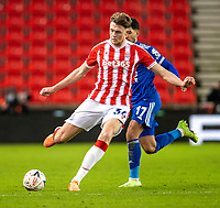 9th January 2021; Bet365 Stadium, Stoke, Staffordshire, England; English FA Cup Football, Carabao Cup, Stoke City versus Leicester City; Harry Souttar of Stoke City crosses the ball