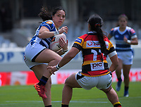 Natahlia Moors in action during the Farah Palmer Cup women's rugby union match between Auckland Storm and Waikato at Eden Park in Auckland, New Zealand on Sunday, 18 October 2020. Photo: Dave Lintott / lintottphoto.co.nz