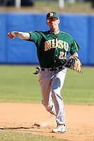 North Dakota State Bisons Kirk Kenneally #25 during a game vs Bradley Braves at Chain of Lakes Park in Winter Haven, Florida;  March 17, 2011.  Bradley defeated North Dakota State 6-5.  Photo By Mike Janes/Four Seam Images