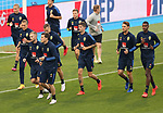 Swedish national team during trainings session at Maksimir Stadium before UEFA Nations League 2020-21 match with Croatia in Zagreb, Croatia on October 10, 2020. <br /> <br /> Ludwig Augustinsson (Werder Bremen #05) mitte beim einlaufen <br /> <br /> Foto © nordphoto / Marko Prpic/PIXSELL