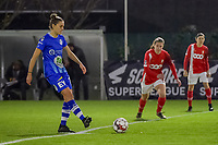 midfielder Chloe Vande Velde (10) starting the female soccer game between  AA Gent Ladies and Standard Femina de Liege on the 8 th matchday of the 2020 - 2021 season of Belgian Scooore Womens Super League , friday 20 th of November 2020  in Oostakker , Belgium . PHOTO SPORTPIX.BE | SPP | STIJN AUDOOREN