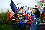 Colourful fans during the 116th edition of Paris-Roubaix 2018. 8th April 2018.<br /> Picture: ASO/Pauline Ballet | Cyclefile<br /> <br /> <br /> All photos usage must carry mandatory copyright credit (© Cyclefile | ASO/Pauline Ballet)