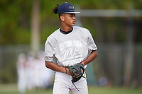 Keon Burkholder during the WWBA World Championship at the Roger Dean Complex on October 11, 2019 in Jupiter, Florida.  Keon Burkholder attends  High School in Williamsport, PA and is Uncommitted.  (Mike Janes/Four Seam Images)