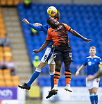 St Johnstone v Dundee United…22.08.21  McDiarmid Park    SPFL<br />Jeando Fuchs and Murray Davidson<br />Picture by Graeme Hart.<br />Copyright Perthshire Picture Agency<br />Tel: 01738 623350  Mobile: 07990 594431