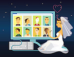 Woman looking for a life partner on a matrimonial website