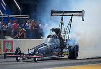 Jul, 10, 2011; Joliet, IL, USA: NHRA top fuel dragster driver David Grubnic during the Route 66 Nationals at Route 66 Raceway. Mandatory Credit: Mark J. Rebilas-