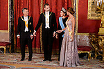 President of Argentine Republic, King Felipe VI of Spain, Queen Letizia and Juliana Awada during the gala dinner given to the President of the Argentine Republic, Sr. Mauricio Macri and Sra Juliana Awada at Real Palace in Madrid, Spain. February 19, 2017. (ALTERPHOTOS/BorjaB.Hojas)