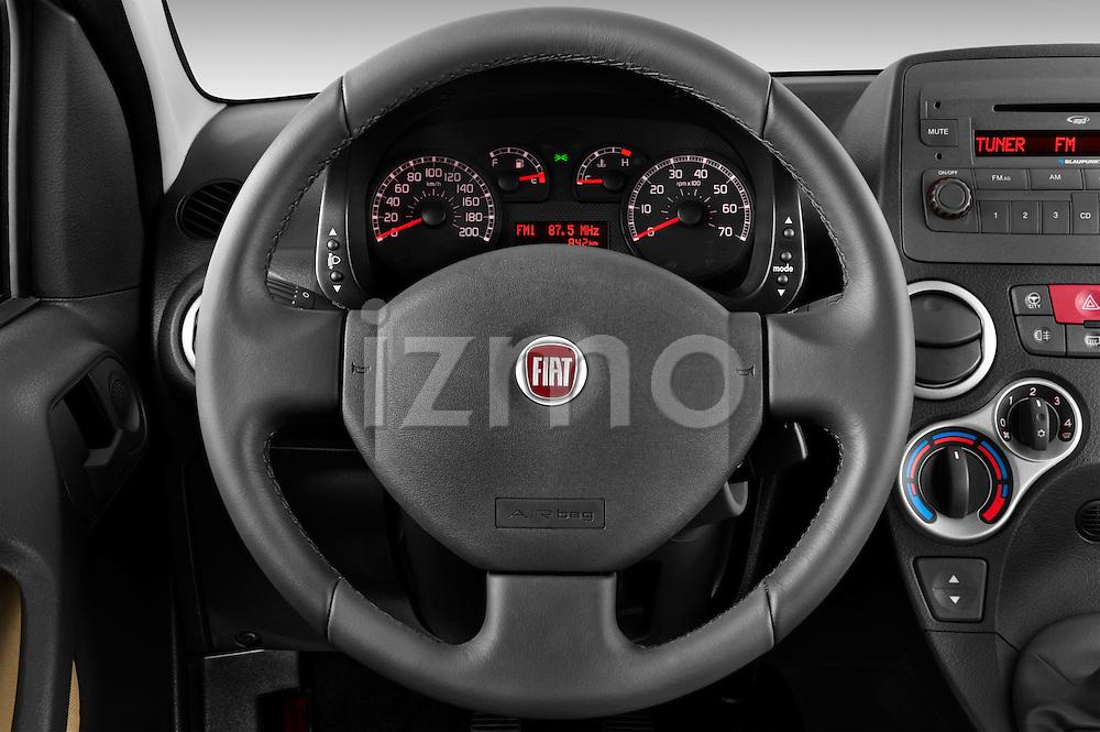Steering wheel view of a 2009 Fiat Panda 5 Door 4x4
