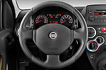 Steering wheel view of a 2009 Fiat Panda 5 Door 4x4