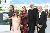 MATHIEU KASSOVITZ, FANTINE HARDUIN, ISABELLE HUPPERT, DIRECTOR MICHAEL HANEKE AND JEAN-LOUIS TRINTIGNANT - PHOTOCALL OF THE FILM 'HAPPY END' AT THE 70TH FESTIVAL OF CANNES 2017