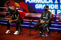 HAMILTON Lewis (gbr), Mercedes AMG F1 GP W12 E Performance, BOTTAS Valtteri (fin), Mercedes AMG F1 GP W12 E Performance, portrait, press conference during the Formula 1 Heineken Grande Prémio de Portugal 2021 from April 30 to May 2, 2021 on the Algarve International Circuit, in Portimao, Portugal<br /> FORMULA 1 : Grand Prix Portugal - Essais - Portimao - 01/05/2021<br /> Photo DPPI/Panoramic/Insidefoto <br /> ITALY ONLY