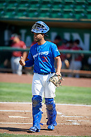 Hendrik Clementina (31) of the Ogden Raptors during the game against the Idaho Falls Chukars in Pioneer League action at Lindquist Field on July 2, 2017 in Ogden, Utah. Ogden defeated Idaho Falls 6-5. (Stephen Smith/Four Seam Images)