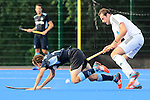 Mannheim, Germany, August 29: During the field hockey group match between HTC Uhlenhorst Muelheim and Zehlendorfer Wespen on August 29, 2014 during the NH Hotels Cup 2014 at Mannheimer Hockey Club in Mannheim, Germany. (Photo by Dirk Markgraf / www.265-images.com) *** Local caption ***
