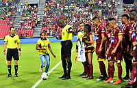 IBAGUÉ- COLOMBIA,17-08-2019:Jhon Hinestroza Romaña, referee central.Acción de juego entre los equipos  del Deportes Tolima y el Once Caldas durante  partido por la fecha 6 de la Liga Águila II 2019 jugado en el estadio Manuel Murillo Toro de la ciudad de Ibagué. /Central referee Jhon Hinestroza Romna.Action game between teams  Deportes Tolima and Once Caldas during the 6 match for  the Liga Aguila I I 2019 played at the Manuel Murillo Toro stadium in Ibague city. Photo: VizzorImage / Juan Carlos Escobar  / Contribuidor