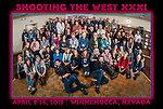 The photographers, students, friends, presenters, sponsors and vendors at Shooting The West XXXI pose for a group photo at the end of the symposium, thinking of next year's program. <br />.<br />.<br />.#NikonUSA, #ShootingTheWest XXX, #WinnemuccaNevada