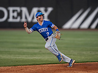 Jesuit Tigers shortstop Bradke Lohry (2) during a game against the IMG Academy Ascenders on April 21, 2021 at IMG Academy in Bradenton, Florida.  (Mike Janes/Four Seam Images)