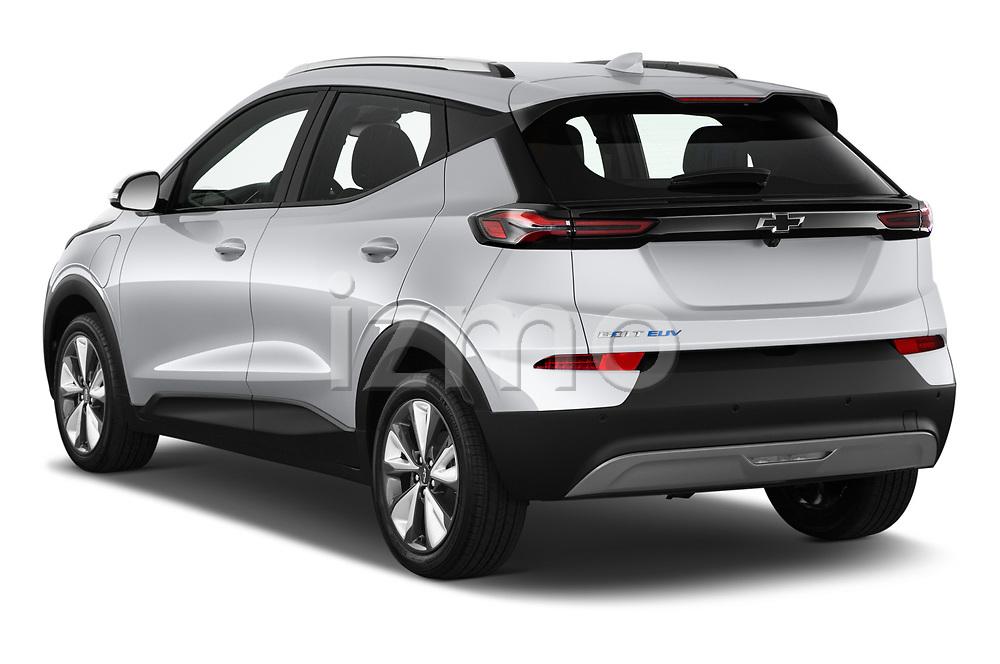 Car pictures of rear three quarter view of 2022 Chevrolet Bolt-EUV LT 5 Door suv Angular Rear