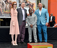 LOS ANGELES, USA. December 10, 2019: Karen Gillan, Will Ferrell, Kevin Hart & Dwayne Johnson at the handprint & footprint ceremony for Kevin Hart at the TCL Chinese Theatre.<br /> Picture: Paul Smith/Featureflash