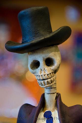 Day of the dead- El Dia de los muertes, Pikes Market, Seattle WA, USA, statue, doll, celebration, ancestors, November 2, holiday,