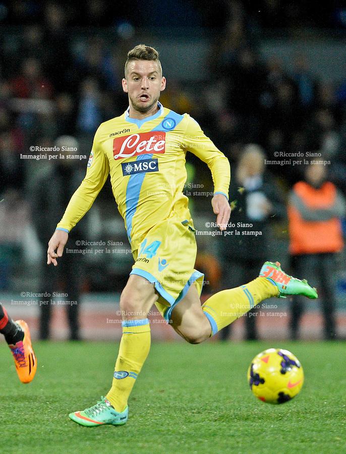 - NAPOLI 8 FEB  -  Stadio San Paolo    Napoli - Milan<br /> NELLA FOTO:  Dries Mertens