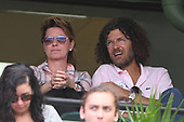 KEY BISCAYNE, FL - MARCH 25 : Shania Twain is sighted watching Roger Federer Vs Frances Tiafoe during the Miami Open at Crandon Park Tennis Center on March 25, 2017 in Key Biscayne, Florida. Photo By Larry Marano © 2017