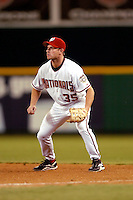 3 September 2005: Rick Short, infielder for the Washington Nationals, playing first base during a game against the Philadelphia Phillies. The Nationals defeated the Phillies 5-4 at RFK Stadium in Washington, DC. <br />