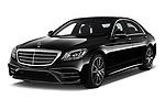 2018 Mercedes Benz S Class Base 4 Door Sedan angular front stock photos of front three quarter view
