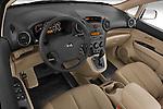 High angle dashboard view of a 2008 Kia Rondo EX V6