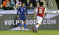 Cary, N.C. - Tuesday March 27, 2018: DeAndre Yedlin during an International friendly game between the men's national teams of the United States (USA) and Paraguay (PAR) at Sahlen's Stadium at WakeMed Soccer Park.