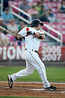Daniel Burkhart, 2010 Salem-Keizer Volcanoes, playing here against the Eugene Emeralds at Volcanoes Stadium in Keizer, OR - 09/03/2010.Photo by:  Bill Mitchell/Four Seam Images..