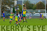 Daniel O'Shea Ballymac and Conor Herlihy Gneeveguilla contest the kick out during their Junior Championship quarter final in Castleisland on Saturday