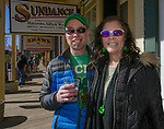 Jim and Rosanna Shaw during the 28th annual Rocky Mountain Oyster Fry and St. Patrick's Day Parade in Virginia City, Nevada on Saturday March 16, 2019.