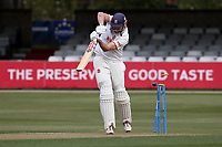 Nick Browne of Essex is bowled out by Chris Rushworth during Essex CCC vs Durham CCC, LV Insurance County Championship Group 1 Cricket at The Cloudfm County Ground on 15th April 2021