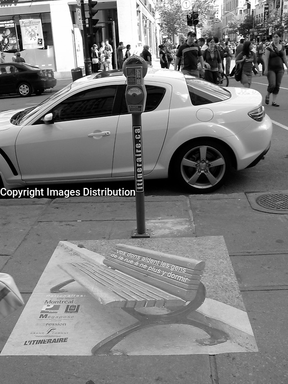 Montreal (Qc) CANADA, July 21, 2007<br /> <br /> Parking meter to give money for homeless people<br /> <br /> photo : (c) images Distribution