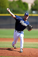 San Diego Padres minor league pitcher Michael Kelly #44 during an instructional league game against the Seattle Mariners at the Peoria Sports Complex on October 6, 2012 in Peoria, Arizona.  (Mike Janes/Four Seam Images)