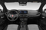 Stock photo of straight dashboard view of 2021 Fiat Tipo-Cross - 5 Door Hatchback Dashboard