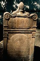 Tschechien, Prag, alter juedischer Friedhof, Grab Simon der Gerechte, Unesco-Weltkulturerbe