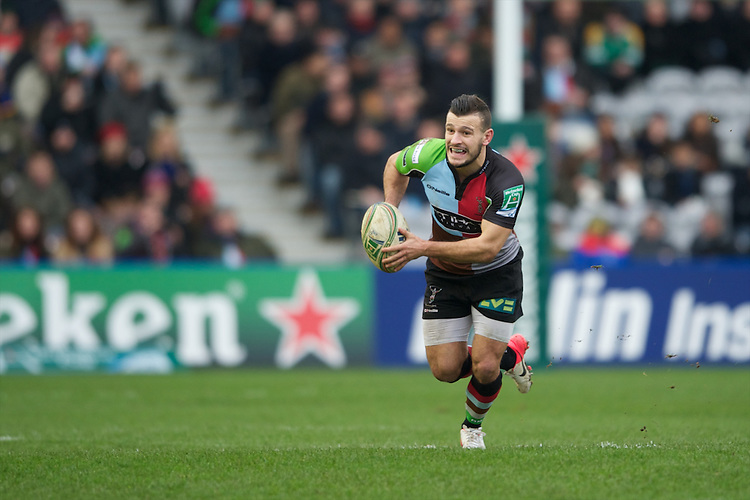 Danny Care of Harlequins in action during the Heineken Cup match between Harlequins and Connacht Rugby at The Twickenham Stoop on Saturday 12th January 2013 (Photo by Rob Munro).