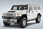 Front three quarter view of a 2008 Hummer H2 SUV