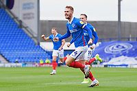 Tom Naylor of Portsmouth celebrates scoring the first goal during Portsmouth vs MK Dons, Sky Bet EFL League 1 Football at Fratton Park on 10th October 2020