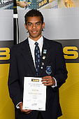 Boys Football winner Jonathan Raj from Mt Albert Grammar School. ASB College Sport Young Sportperson of the Year Awards 2008 held at Eden Park, Auckland, on Thursday November 13th, 2008.
