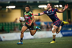 Tradition YCAC (in flowered shirts) plays against Taikoo Place Scottish Exiles (in blue) during GFI HKFC Rugby Tens 2016 on 06 April 2016 at Hong Kong Football Club in Hong Kong, China. Photo by Juan Manuel Serrano / Power Sport Images