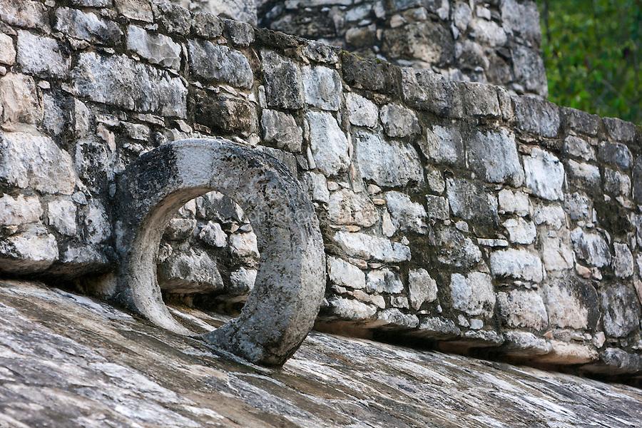Mayan Ball Court Scoring Ring, Coba, Riviera Maya, Yucatan, Mexico.