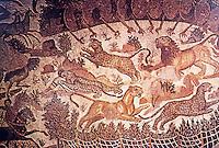 Rome: Mosaic--Capturing Beasts in Africa, 3rd C. AD.  Hippo Regius, Algeria.