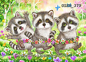 Kayomi, CUTE ANIMALS, LUSTIGE TIERE, ANIMALITOS DIVERTIDOS, paintings+++++,USKH379,#ac#, EVERYDAY ,puzzle,puzzles, raccoon, racoons