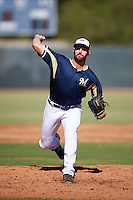 Milwaukee Brewers pitcher Preston Gainey (79) during an Instructional League game against the Cincinnati Reds on October 14, 2016 at the Maryvale Baseball Park Training Complex in Maryvale, Arizona.  (Mike Janes/Four Seam Images)