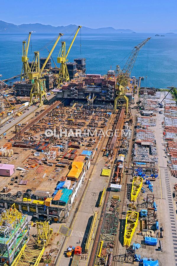 Construção naval, Estaleiro BrasFels. Angra dos Reis. Rio de Janeiro. 2085. Foto de Ricardo Azoury.